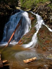 Водопад Орфей и каньона на водопадите