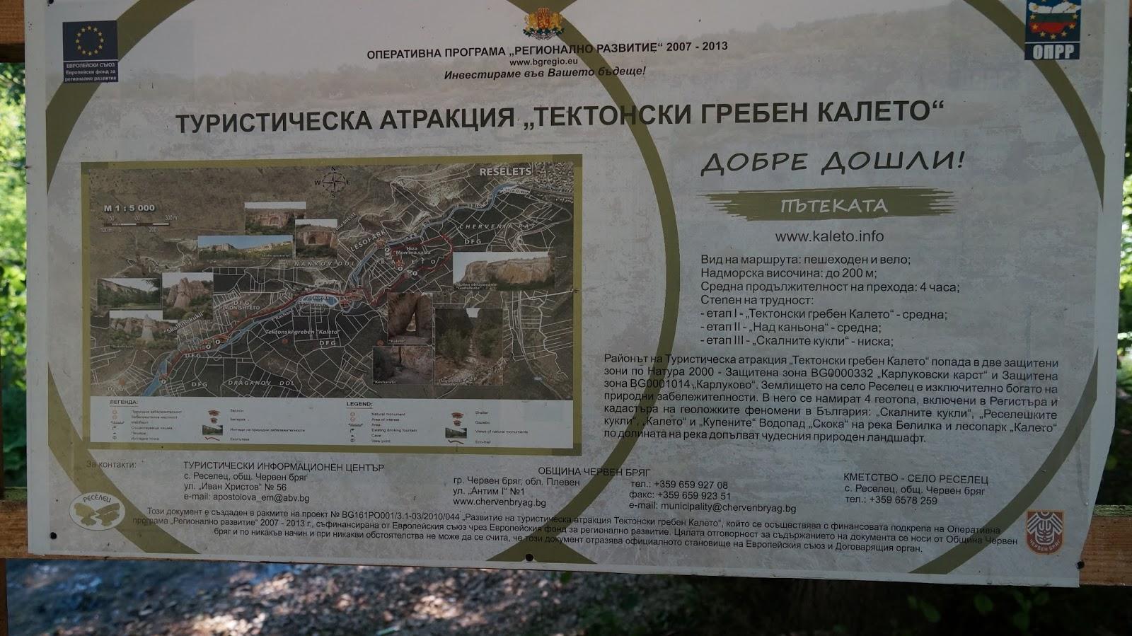 Екопътека Тектонски гребен Калето